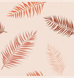 Tropical seamless pattern exotic stylized vector