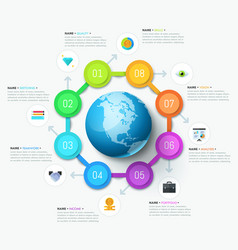 unique infographic design template vector image