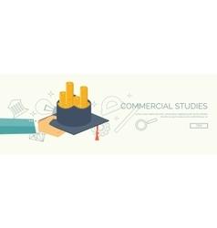 University Flat backgrounds vector