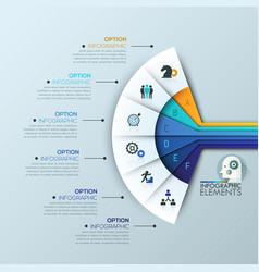 Unusual infographic design template 6 vector