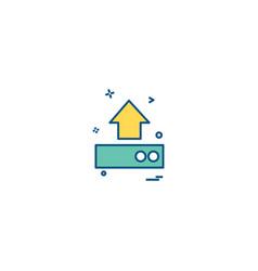 uploading icon design vector image