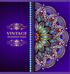 Vintage floral style brochure and flyer design vector