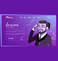web page business interface responsive ux vector image