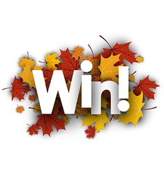 Win background with maple leaves vector