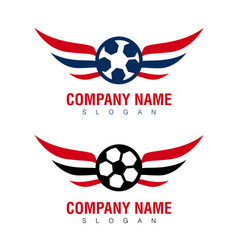Wings soccer design vector