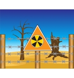 Zone to radioactive danger vector