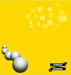 Abstract pure yellow background vector image vector image