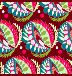 bright seamless pattern in boho style vector image vector image