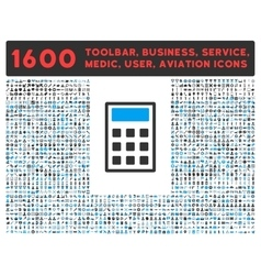 Calculator Icon with Large Pictogram Collection vector image vector image
