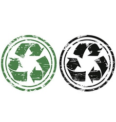 grunge recycling stamp vector image vector image