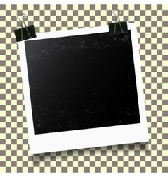 Photo frame template vector image vector image
