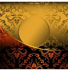 Gold card vector image