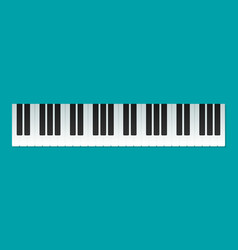 musical flat background piano key keyboard vector image