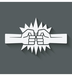 punch fists fight symbol vector image