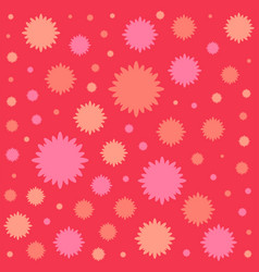 red flowers flat icon colorful background vector image vector image