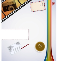 retro desk vector image