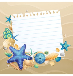 shells and starfishes vector image vector image