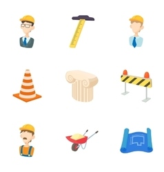 Construction tools icons set cartoon style vector image vector image