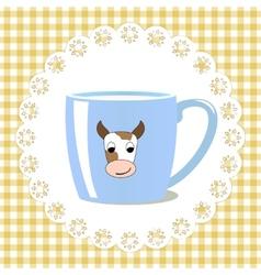 Cup of milk vector image