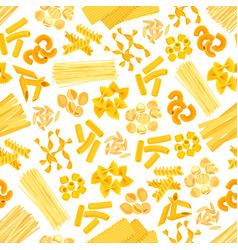 pasta and italian macaroni seamless pattern vector image vector image