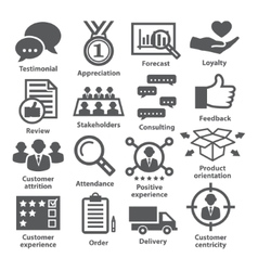 Business management icons Pack 26 vector image vector image