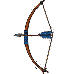 child wooden longbow vector image