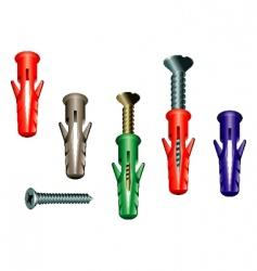 dowel screw vector image