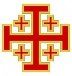 Jerusalem cross vector image vector image