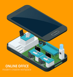 online office concept isometric vector image