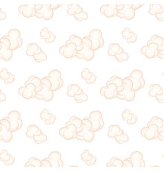 seamless pattern with pinkclouds isolated vector image