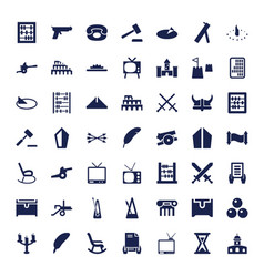 49 antique icons vector