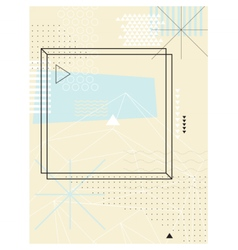 Abstract geometric background Design elements vector image vector image