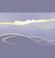 Abstract landscape in purple tones vector