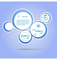 Abstract web design blue bubble vector image