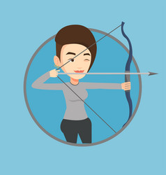 archer training with the bow vector image