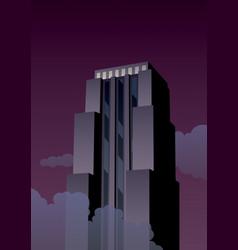 art deco tower vector image vector image