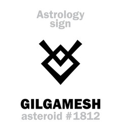 astrology asteroid gilgamesh vector image