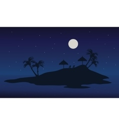 At night islands scenery summer backgrounds vector image