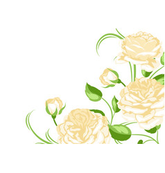 Background with yellow roses beautiful decorative vector