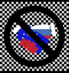 ban cooperation between russia and euro union vector image