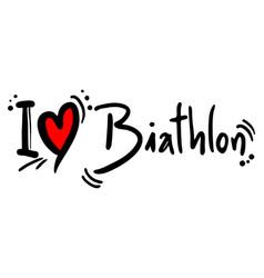 Biathlon love vector
