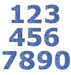bubble digits vector image vector image