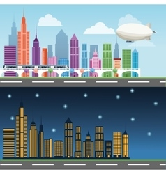 Buildings of big city design vector image