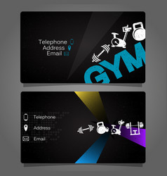 Business card for the gym and fitness vector
