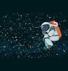 cartoon astronaut thinking or searching solution vector image