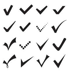 Check mark icons vector