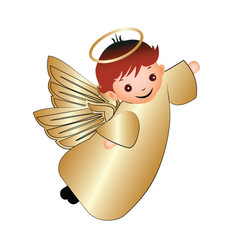 Child happy angel vector