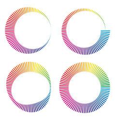 Circular color wheels or buffer shapes vector