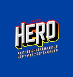 comics superhero style font vector image