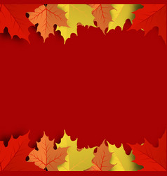 concept and idea colorful autumn maple leaf vector image